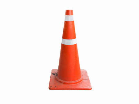 traffic cone: traffic cone on white background