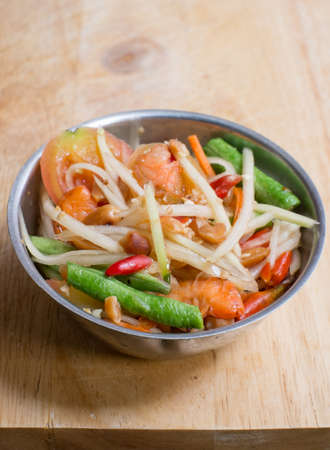 somtum: Spicy papaya salad - somtum Stock Photo