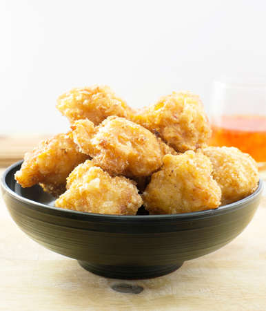 balls deep: Deep fried shrimp balls Stock Photo
