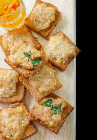minced: Minced pork toast