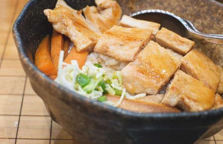 teriyaki: teriyaki chicken rice Stock Photo