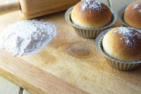 haciendo pan: ingrediente para la fabricaci�n de pan