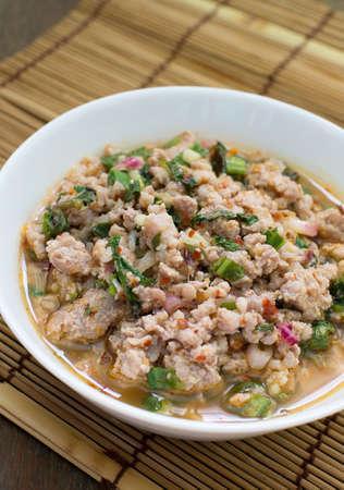 carne picada: ensalada de carne picada de cerdo