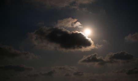 midnight: moon light at midnight Stock Photo