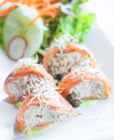stuff: smoke salmon stuff with crab