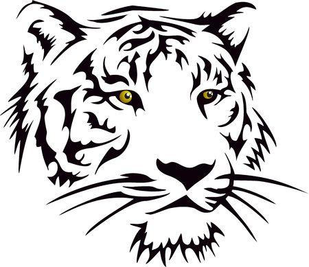 Tiger Head  Standard-Bild - 22961572