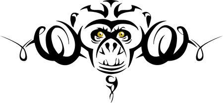Tribal Monkey Vector