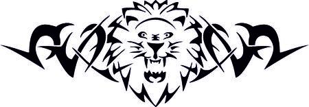 Tribal Lion Banque d'images - 22961578