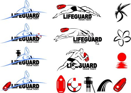 lifeguard tower: Lifeguard set