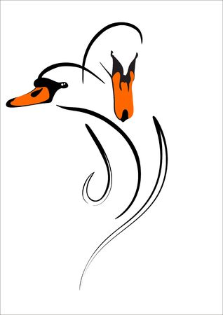 swan couples Ilustracja
