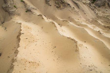 Sand quarry. Texture. Traces of production. Archivio Fotografico