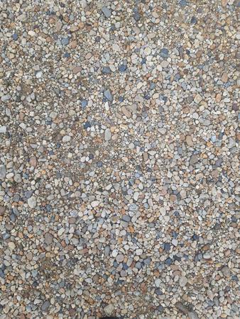 Kies, Sand, Ton, Sand wurden als Gehweg zusammengeführt.