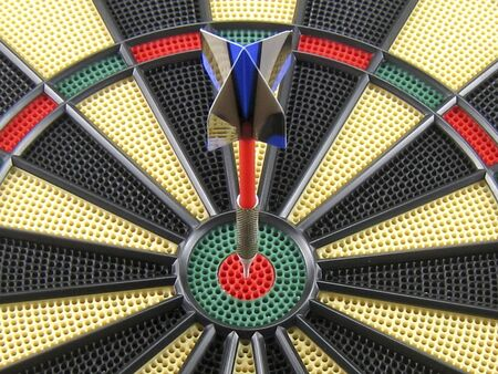 Dart on the target Stock Photo