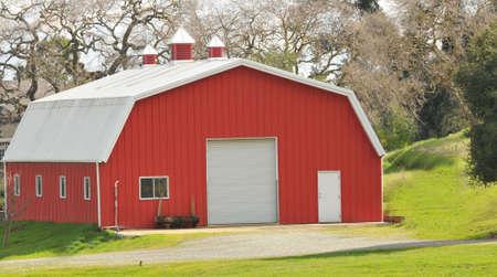 modern day red barn photo