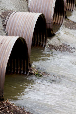 culvert: Water drainage pipes Stock Photo
