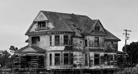 dilapidated: spooky old haunted house