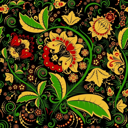 Seamless pattern in traditional Russian style  Vector