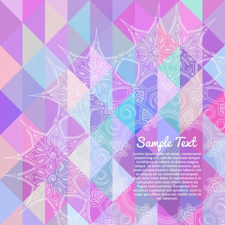 Invitation card with abstract geometric background Vector