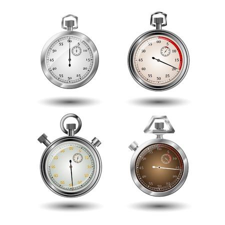 Set of vector stopwatches Vector
