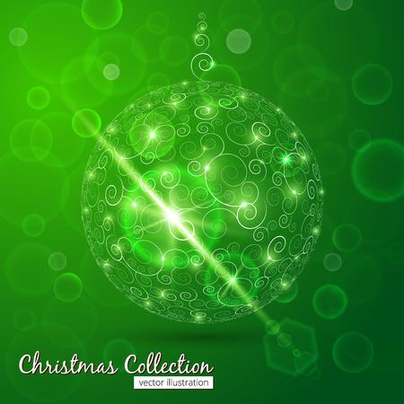 Christmas ball with bokeh background photo