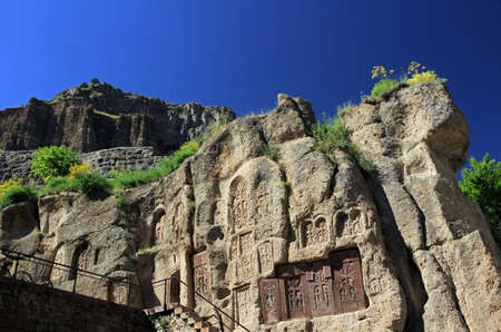 Geghard monastery, Monastery of the Spear, Kotayk province, Armenia Stock Photo