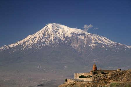 Khor Virap met Mount Ararat op achtergrond, Armenië