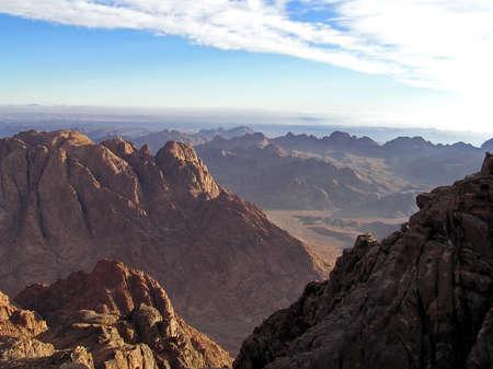 View from Mount Sinai, Sinai Peninsula, Egypt