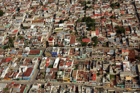 Guatemala City, aerial view - air phoptograph, Guatemala