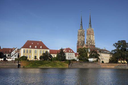Wroclaw (Poland), view at Ostrow Tumski Stock Photo - 5983039