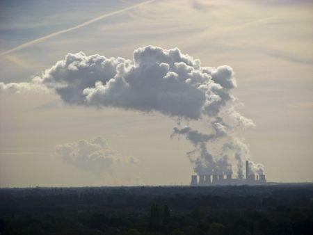 emit: Plant chimneys in York belching out smoke