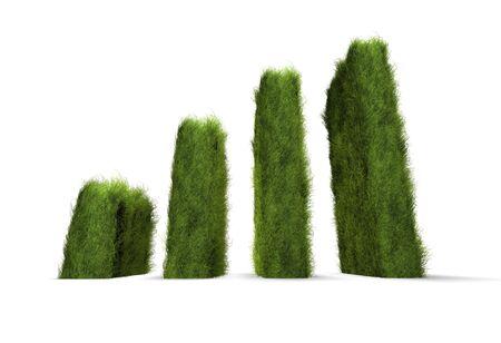 Rising green awareness chart concept   photo