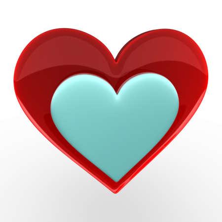 glossy heart Stock Photo - 6123587