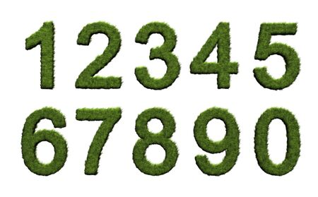 Grass numbers Stock Photo - 6123588