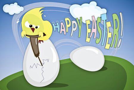 Funny Easter illustration illustration