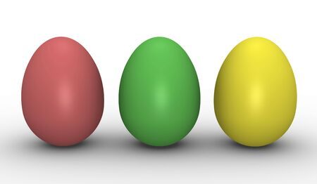 Three colorful eggs Stock Photo - 6179486