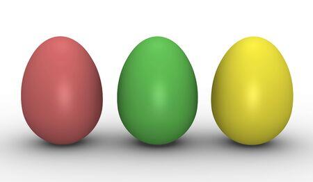 Three colorful eggs Stock Photo - 6179486