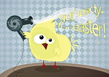 get ready: Get pronto per Pasqua; funny illustrazione di Pasqua