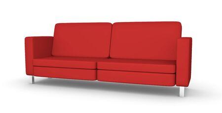 Red sofa photo