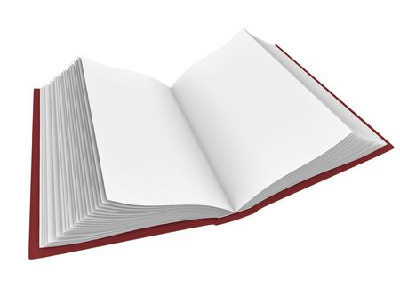 Open book with blank pages; 3D rendered illustration. Stock Illustration - 6359343