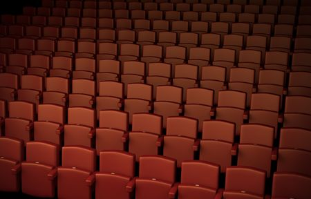 Auditorium; high quality 3D rendered illustration illustration