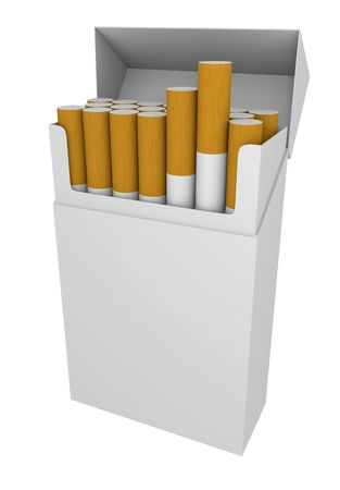 cigarette smoke: Packet of cigarettes