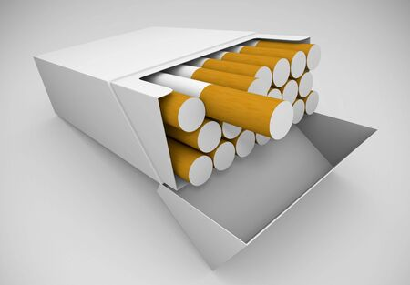 Packet of cigarettes photo