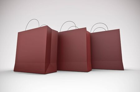 Three large shopping bags