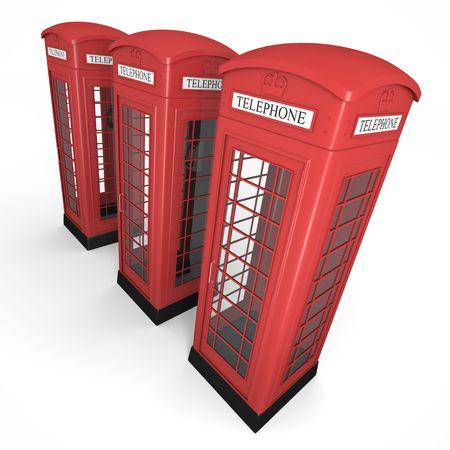 Three phone booths photo