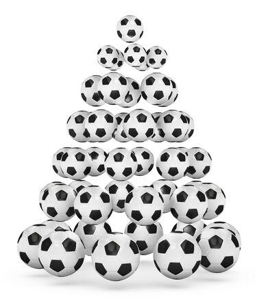 christmas motives: Soccerfootball themed christmas tree.
