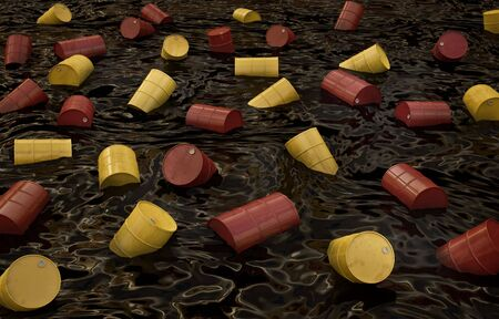 chemical spill: Disaster. 3D rendered image. Stock Photo