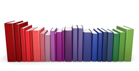 Color coordinated books photo