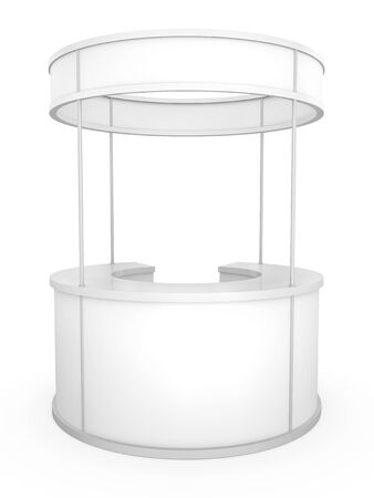 Blank circular trade stand. 3D rendered illustration. Stock Photo
