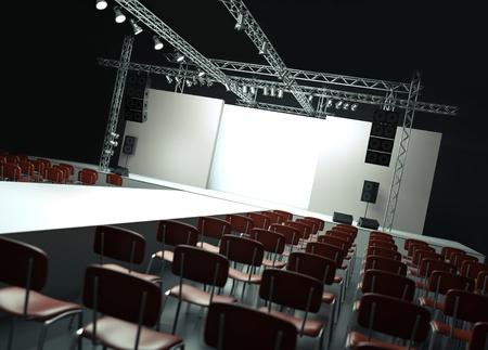 stage show: Catwalk. 3D rendered image.