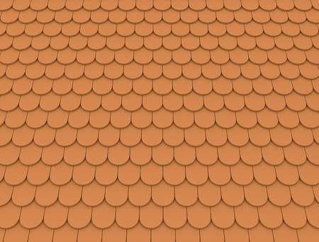 Roof tile pattern. 3D render. Stock Photo - 8903441